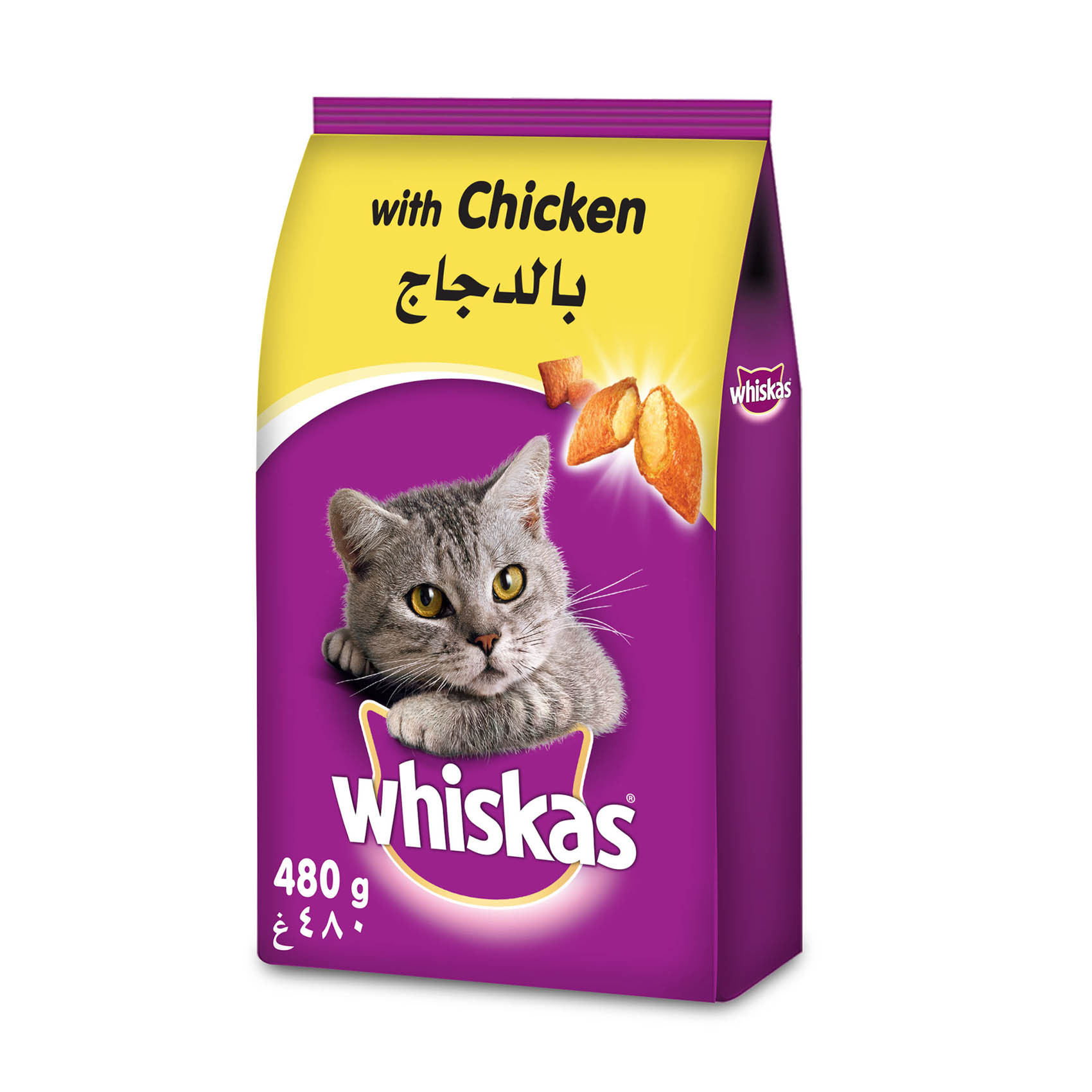 WHISKAS CHICKEN DRY 480G