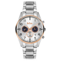 Lee Cooper Men's Multi-Function Silver Case Silver Super Metal Strap Silver Dial -LC06314.131