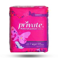 Private Ladies Pads Extra Thin Night 7 Napkins
