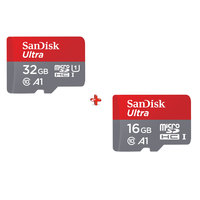 SanDisk Micro SD Ultra 90MB/s 32GB + SanDisk Micro SD Ultra 16GB