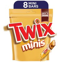 Twix® Minis Chocolate Mini Bars Pouch 160g (8 pcs)