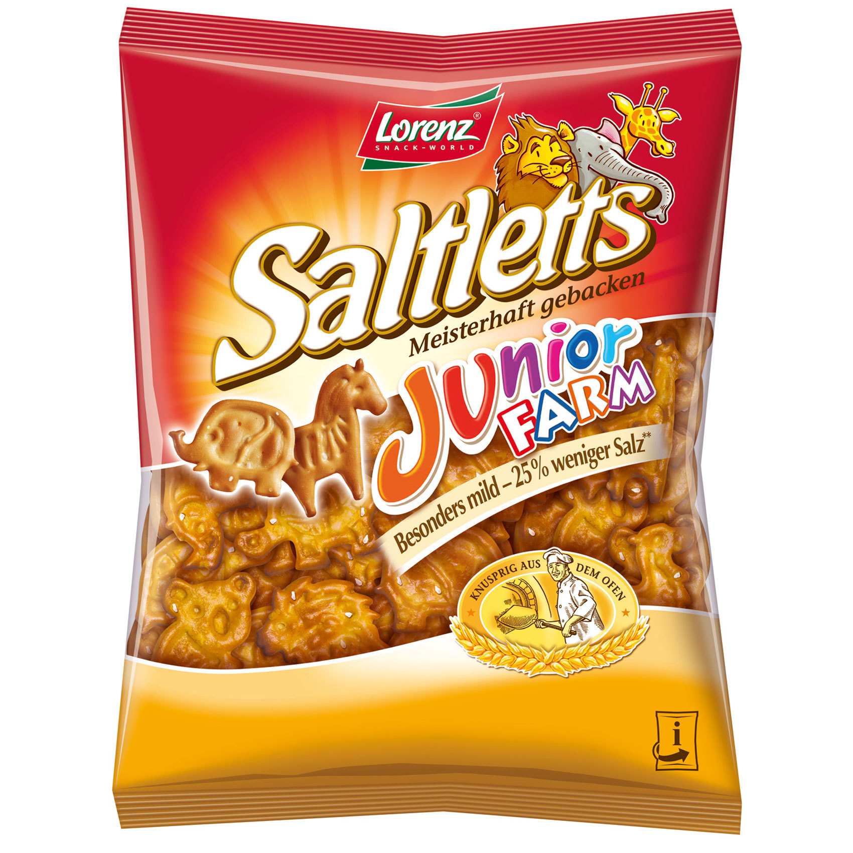 LORENZ SALTLETTS JUNIOR FARM 125G