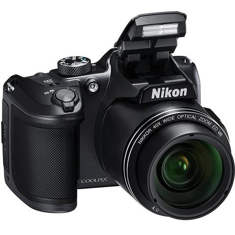 Nikon-Camera-Coolpix-B500-Black-+-8GB-Card-+-Case-+-Battery-Charger