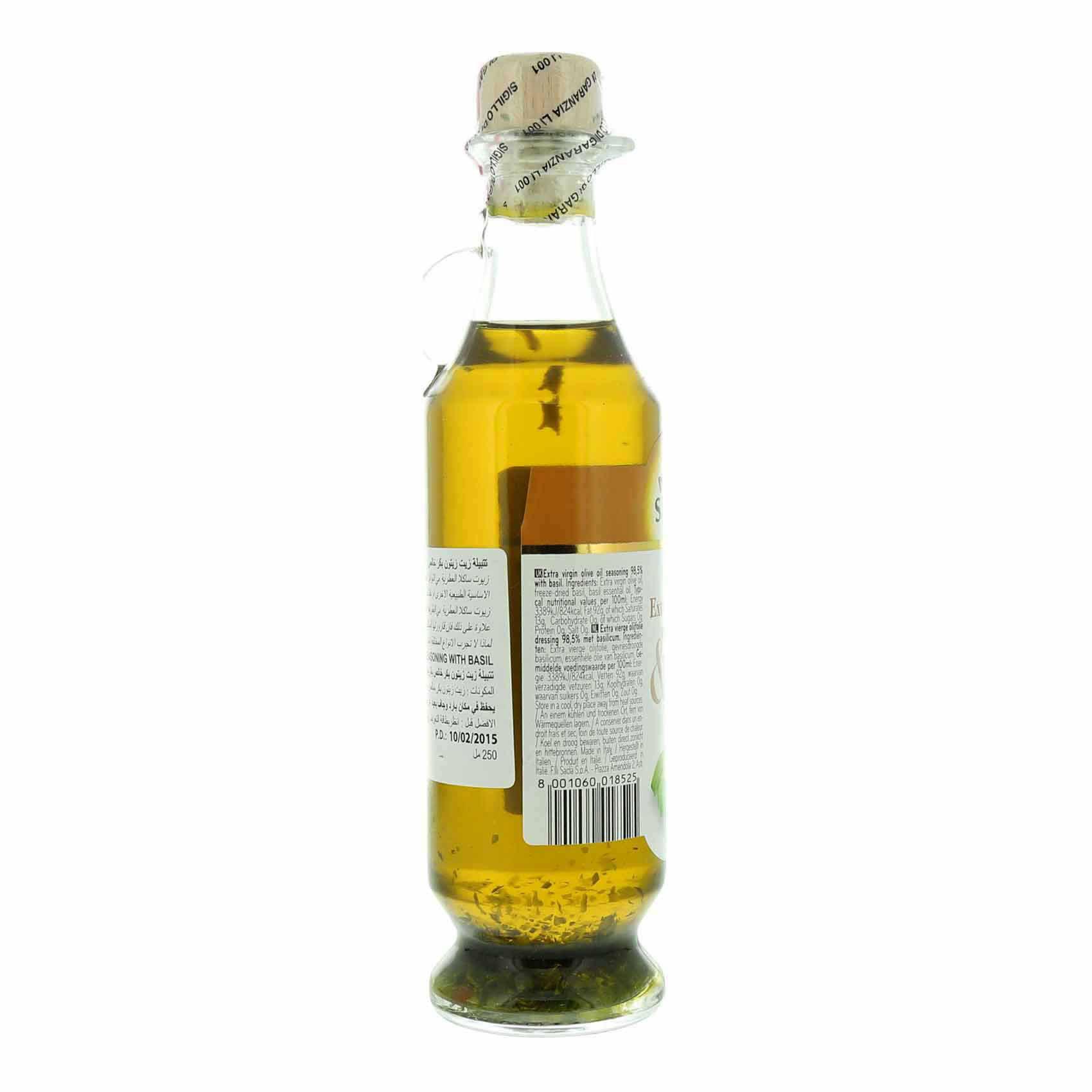 SACLA E/V OLIVE OIL & BASIL 250 ML