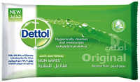 Dettol Anti Bacterial Skin Care Wipes 5 x 10 Pieces