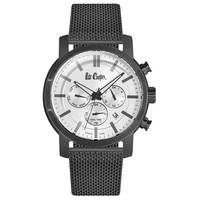 Lee Cooper Men's Multi-Function Black Case Black Super Metal Strap Silver Dial -LC06357.390