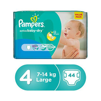 Pampers Diapers Value Pack Active Baby Size 4