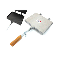 Cast Aluminum Toaster With Wooden Handles