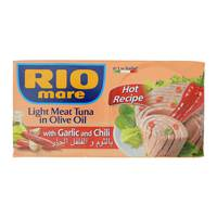 Rio Mare Light Meat Tuna in Olive Oil with Garlic & Chili (2 x 160 g)