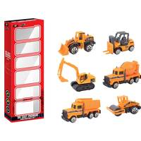 Power Joy V.Vrom Diecast Premium Construction 6In1 Pack