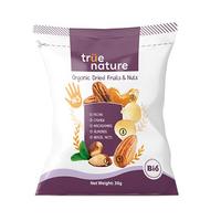 True Nature Organic Dried Fruits & Nuts Mix Hi5 30GR