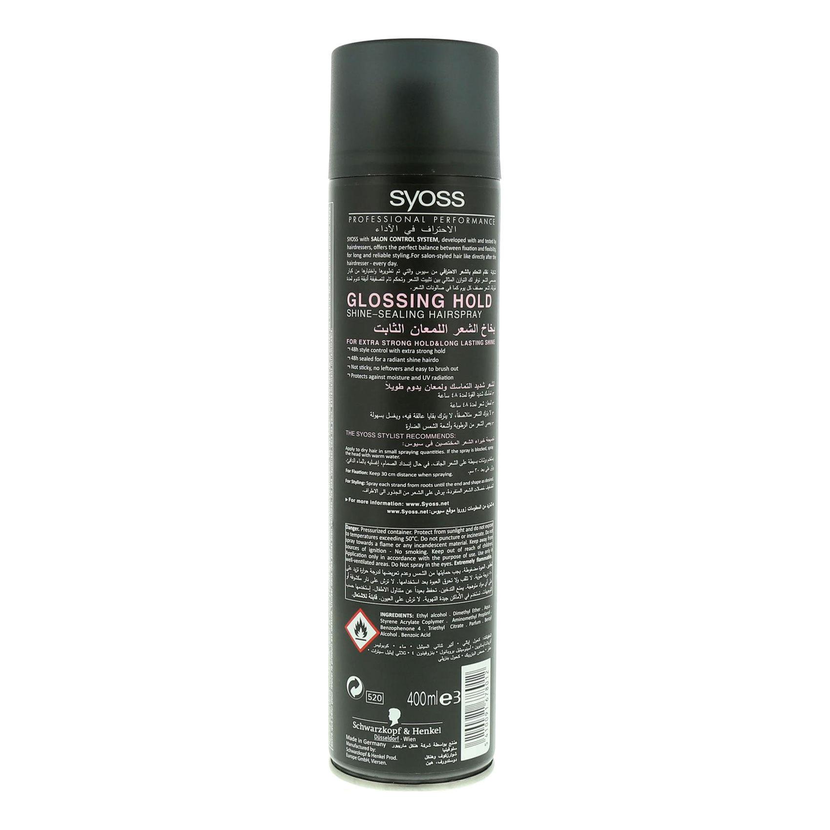 SYOSS HAIR SPRAY SHINE HOLD 400ML