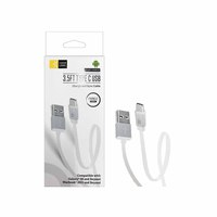 Caselogic Flat USB Type-C Cable 2.0 Speed 3.5FT White