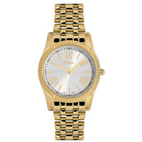 Lee Cooper Women's Analog Rose Gold Case Gold Super Metal Strap Silver Dial -LC06318.130