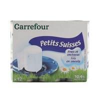 Carrefour petit suisse 10.4% 60 g x 12