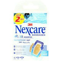 Nexcare 30 Assorted Waterproof Bandages