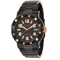 Mount Royale Men's Watch Black Dial Stainless Steel Band Casual-7R70