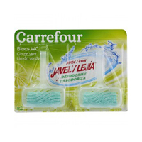 Carrefour Lemon Bleach WC Bloc 40GR X 2