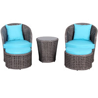Ainoa Aluminium Wicker Set With Foot Rest 5Pcs (Delivered In 7 Business Days)