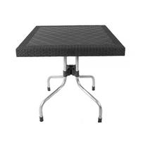 Eden Rattan Table With Aluminium Base 80 X 72 X 80CM