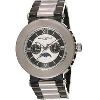 Mount Royale Men's Watch Silver/Black Dial Stainless Steel Band-R393