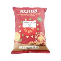 Kallo Free Gluten Sundried Tomato And Herbs Corn And Rice Snake 25 Gram