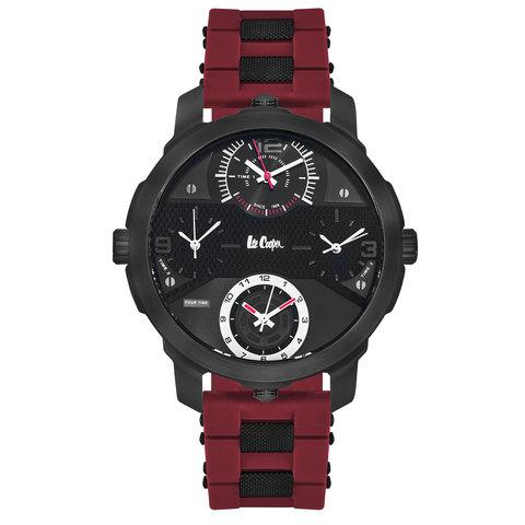 Lee-Cooper-Men's-Analog-Black-Case-Red-Resin-Strap-Black-Dial--LC06223.658