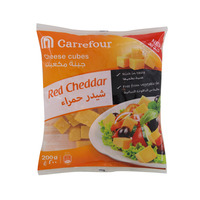 Carrefour Red Cheddar Cheese Cubes 200g