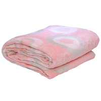 3D Super Soft Flannel Blanket King Peach