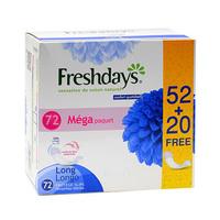 Freshdays Ladies Pads Long Economy 72 Napkins