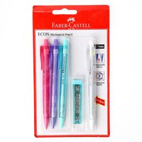 Faber-Castell Econ mechanical Pencil 0.7 4Pcs+ Lead