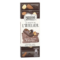 Nestle Atelier Dark Raisins Hazelnuts Almonds 100g
