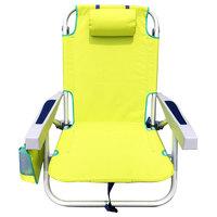 Aluminium Folding Beach Chair Yellow 61.5X63X78.5cm