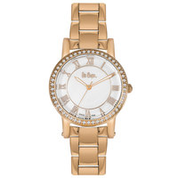 Lee Cooper Women's Analog Rose Gold Case Rose Gold Super Metal Strap White Dial -LC06354.420