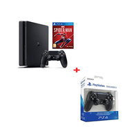 Sony PlayStation 4 Slim, Spider Man Special Edition, 1 TB with 1 Controller and Spider Man Game + Free Joy Stick