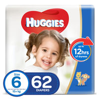 Huggies Superflex Jumbo Pack Size 6 15+ kg 62 Count