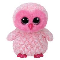 "Ty Beanie Boos Twiggy Owl Medium 9"" Pink"