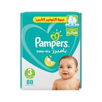 Pampers Baby-Dry Diapers Size 3 Midi Mega Pack 88 diapers