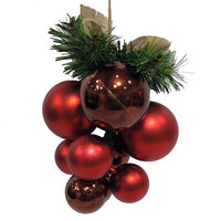 Christmas Grape Shiny/Matt Ball Coffee/Red 60/40Mm