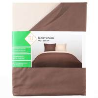 TEX Quilt Cover Single Brown Coffe
