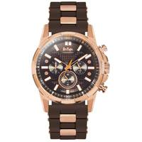 Lee Cooper Men's Chronograph Rose Gold Case Brown Resin Strap Brown Dial -LC06368.065