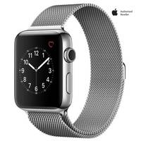 Apple Watch Series-2 42mm Stainless Steel Case With silver Milanese Loop