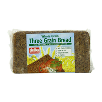 Delba Wholegrain Three Grain Bread 500g