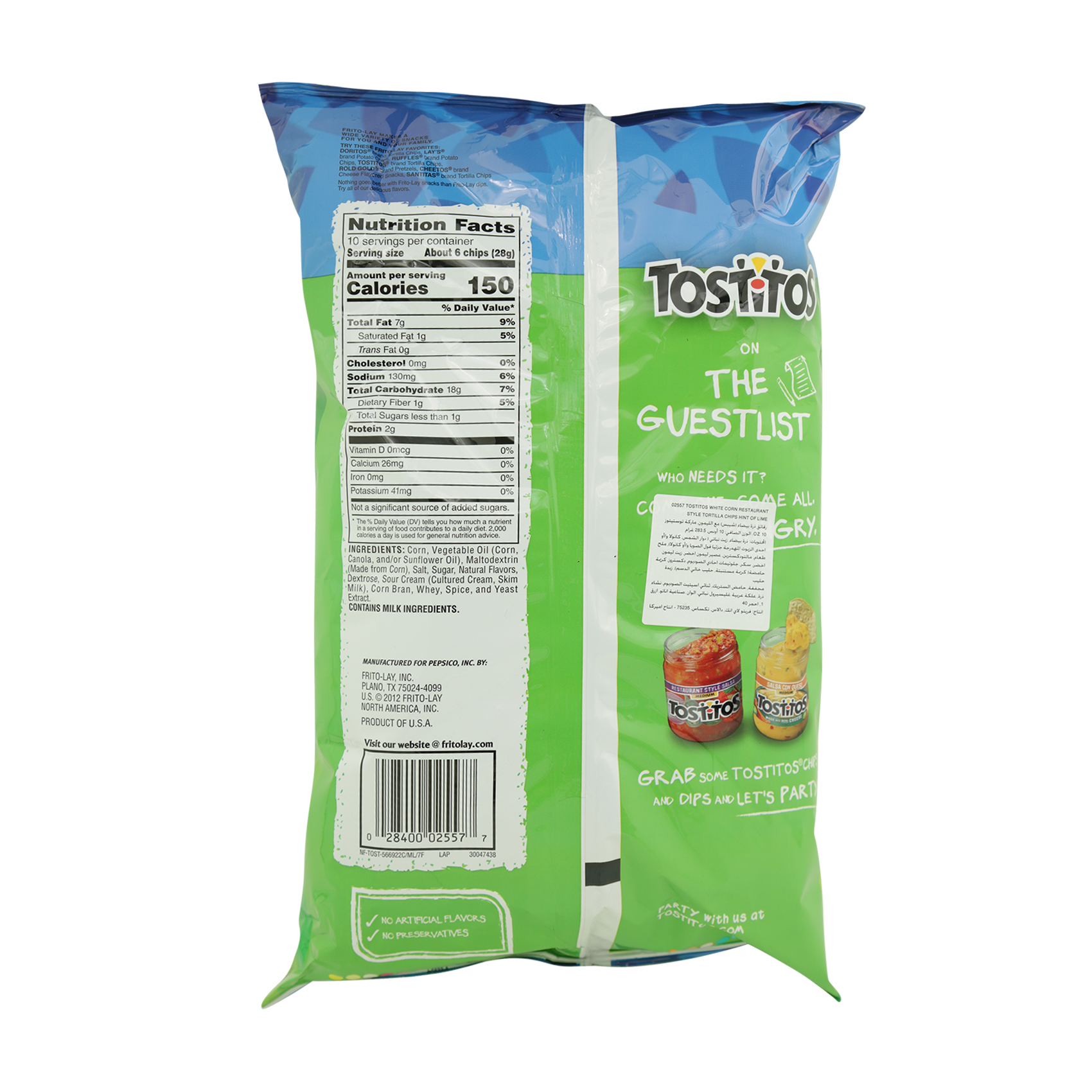 TOSTITOS HINT OF LIME 283.5GR