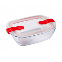 Pyrex Glass Rectangular Dish With Vented Lid 2.5L