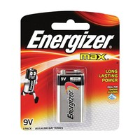 Energizer Max Alkaline Battery 9V Size 522 Pack Of 1 Pieces