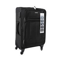 ترافل هاوس حقيبة سفر خامة ناعمة 4 عجلات مقاس 24 انش لون أسود