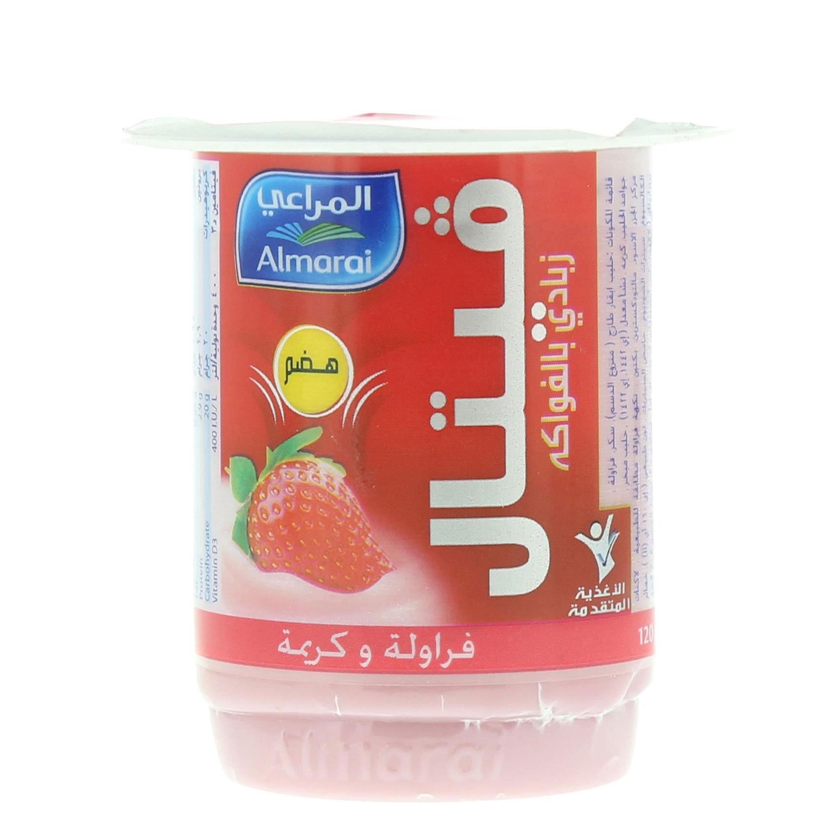 ALMARAI VETAL STRW&CREAM YOG 120G
