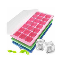Ice Cubes Tray With Lid Assorted