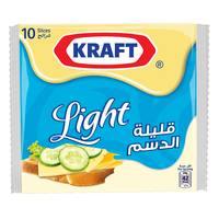 Kraft Processed Cheese Slices Light 200g